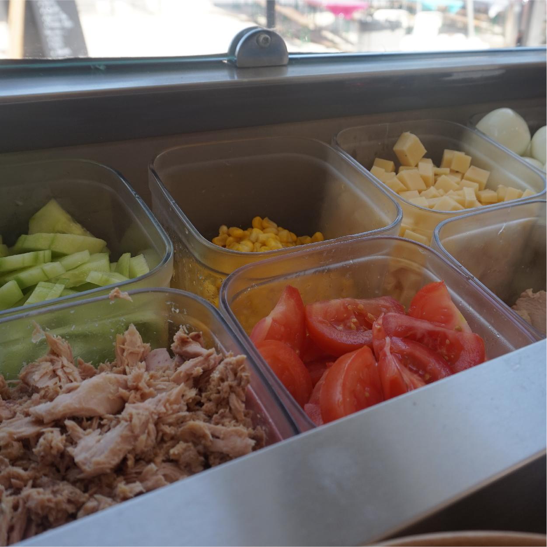 ingrédients salades frais