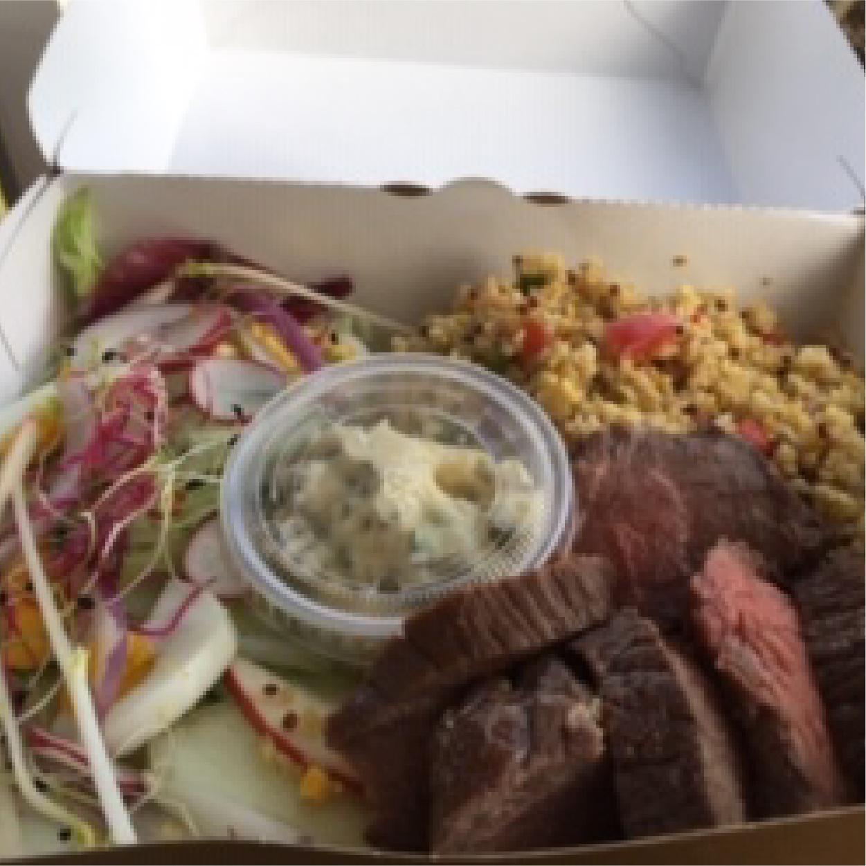 plat viande taboulé salade