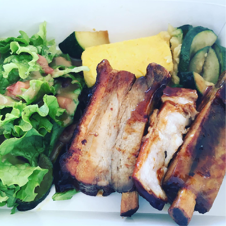 plat viande salade légumes