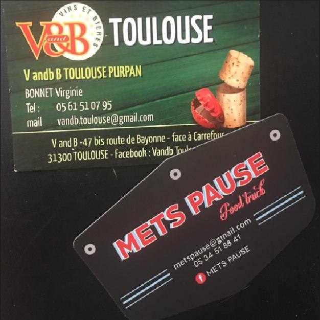 cartes de visite v&b toulouse