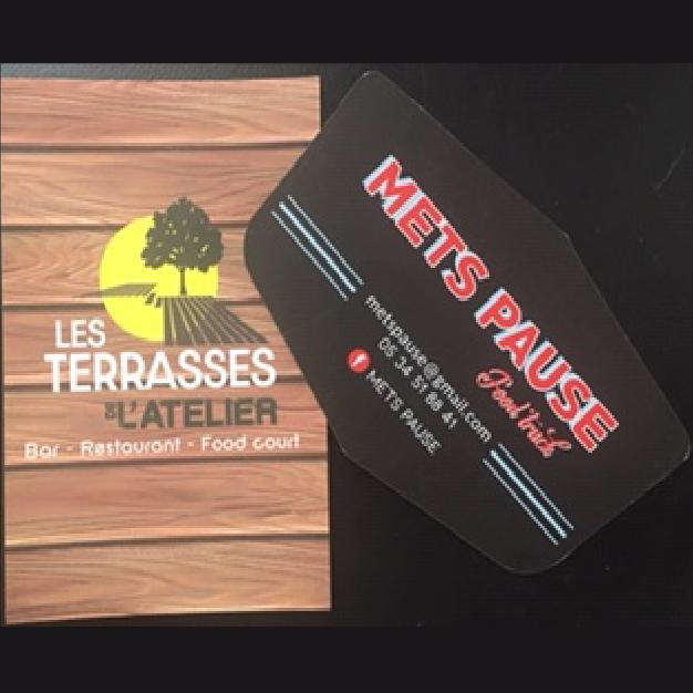 cartes de visite les terrasses de l'atelier